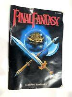 Final Fantasy MANUAL Explorer's Handbook (NO GAME) 1990 NES Nintendo Booklet