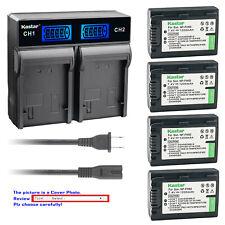 Kastar Battery LCD Rapid Charger for Sony FH50 DCR-DVD705 DCR-DVD708 DCR-DVD710