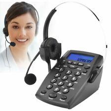 Teléfono Fijo - Call Center Teléfono con Auriculares Manos Libres con Cable