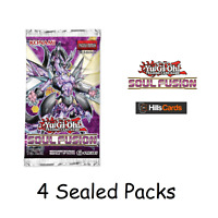 YuGiOh Soul Fusion 4 Sealed Booster Packs - New TCG Cards