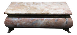 Mid-20th Century Monumental Footed Marble Box