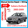 #OFFI WORKSHOP MANUAL service repair FOR Subaru Legacy Liberty Outback 2003-2009