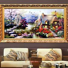 DIY Kreuzstich Stickpackung Stickbild sticken Garn Haus Home Decor Garten