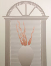 "Leonardo ""Portal"" Hand Signed Art Serigraph 1983 vase in window sill OBO"