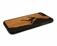 Handcrafted Wood iPhone 7 Plus Case Soft Rubber Sides by Nuwoods, Rock Climber
