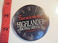 HIGHLANDER Final Dimension 1994 promo FYC pin Christopher Lambert B26