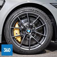 "NEW GENUINE BMW M3 M4 19"" 20"" 763M SPORT ALLOY WHEELS MICHELIN TYRES TPMS"