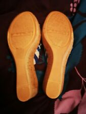 Lotus ladies slippers size 5 blue