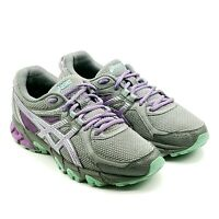 Asics Gel Sonoma 2 Womens Gray Purple Teal Trail Running Shoes Sz 7.5 D T685N
