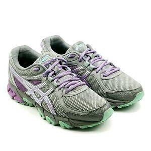 Asics Gel Sonoma 2 Womens Gray Purple Teal Trail Running Shoes Sz 7.5 D T685N