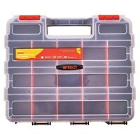 34 Section Tool Organiser Professional Storage Carry Case Screws Nails Box