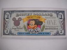 Disney Dollar 1993  One Dollar Bill Mint DA