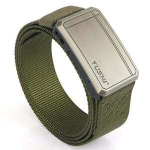 Tactical Belt Fashion Belt Alloy Buckle Mens Waistband Quick Release for Hunting