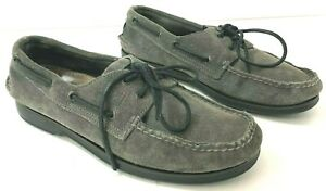 SPERRY TOPSIDER 2 Eye Boat Shoes Mens 8M Gray Suede