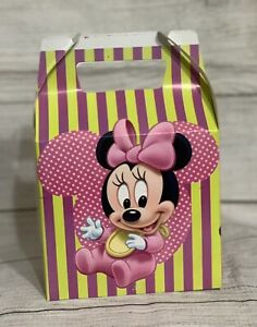 10ct Baby Minnie Mouse Candy/Treat Boxes Loot Goody Treat Cajita Dulcera