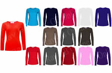 Long Sleeve Scoop Neck Semi Fitted Tops & Shirts for Women
