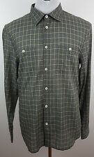 Armani Exchange Plaid style Light Material  Long Sleeve Cotton blend Dress shirt