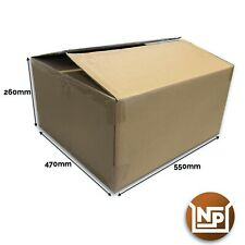 """10 x Large Strong Double Wall Boxes Removal Office Multi Purpose 22"""" x 18"""" x 10"""