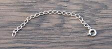 Sterling Silver  Chain Extender ADD LENGTH TO ANY NECKLACE DB1Y