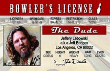 Big Lebowski The Dude novelty Drivers License Id Bowling Bowler Jeff Bridges