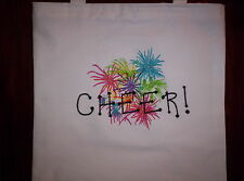 Free personalizing New machine embroidery Cheer Tote Cute!