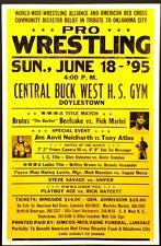 "1995 Wrestling Poster Brutus ""The Barber"" Beefcake Tony Atlas 17"" x 26"""