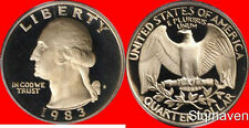 1983 S Washington Quarter Deep Cameo Gem Proof No Reserve