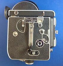 PAILLARD BOLEX H-16 16MM FILM CAMERA, 3 LENSES, SOM BERTHIOT PAN CINOR ZOOM LENS
