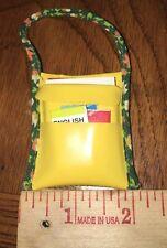 Barbie Vintage Green Yellow School Gym Duffle Bag Purse Hand Bag Faux Books