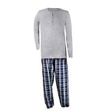 Zweiteiliger Herren Pyjama Schlafanzug mit Karomuster Größe 48 50  M/L