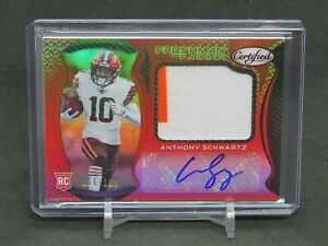 2021 PANINI CERTIFIED ANTHONY SCHWARTZ ROOKIE RC JERSEY AUTO /199 BROWNS JL