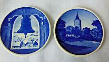Royal Copenhagen Miniature Fajance Collectible Plates ~ Set of 2 Made in Denmark