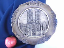 WESTMINSTER ABBEY PLAQUE LONDON CHURCH WOOD LOOK OLD WALL PLAQUE 1960s 24cm