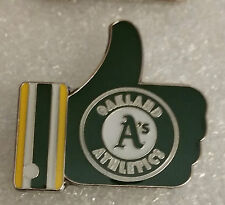 "GREEN OAKLAND A's ""LIKE"" Thumbs Up Lapel PIN"