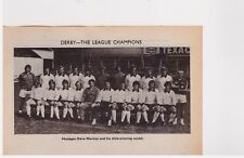 Team Pic from 1975-76 FOOTBALL Annual - DERBY COUNTY + Lyall WEST HAM UNITED Cup