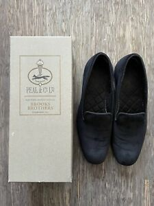 Brooks Brothers Velvet Loafer 8.5US Made By Peal And Co