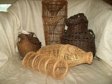 5- Antique Vintage Fish Eel traps-Handmade-Woven-Chin a,Cambodia