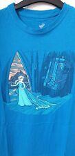 DISNEY Elsa Doctor Who Tardis Teefury Tshirt Large L 12 14 Karen Hallion frozen
