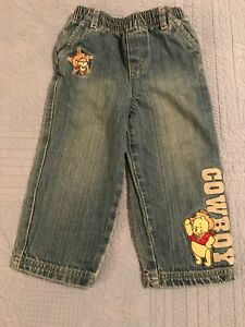 Baby 24 Month Winnie The Pooh And Tigger Cowboy Carpenter Blue Jeans