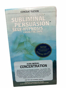 Brand New!Potentials Unlimited Subliminal Persuasion Self-Hypnosis Cassette Tape
