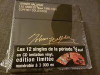 coffret johnny hallyday 12 cd singles vogue edition limitee 3000 ex neuf