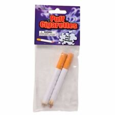 2 Fake Puff Cigarettes - Fake Magic Smoke Trick Gag Prop Costume Accessory Toy