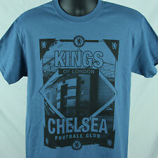 Chelsea Football Club Kings Of London M Medium TShirt Tee Shirt Blue Futbol CFC