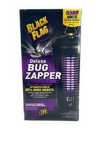 Black Flag Insect Repeller 5500 Volt Deluxe Bug Zapper 1.5 Acre Coverage New