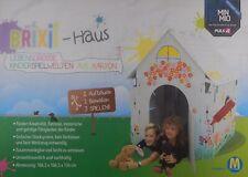 Brixii Haus für Kinder zum Bemalen und Bekleben aus Pappkarton 110cmx110cmx137cm