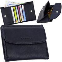 ESPRIT kleine Damen Geldbörse mini Geldbeutel Portemonnaie Brieftasche dark blau
