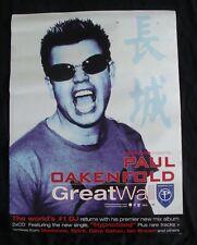 Paul Oakenfold Great Wall Album poster original record store promo