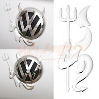 2pcs New Style PVC 3D Devil Demon Car Custom Stickers Decals For VW Volkswagen