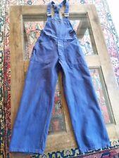Salopette bleu de travail de chauffe enfant T10a vintage Child blue Overalls 10y