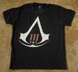 ASSASSIN'S CREED black short sleeve t shirt size L